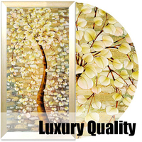 Modern Classic Art Deco Floral Fabric Painting Decorative Painting On Canvas Bedroom Painting Three Dimensional Relief