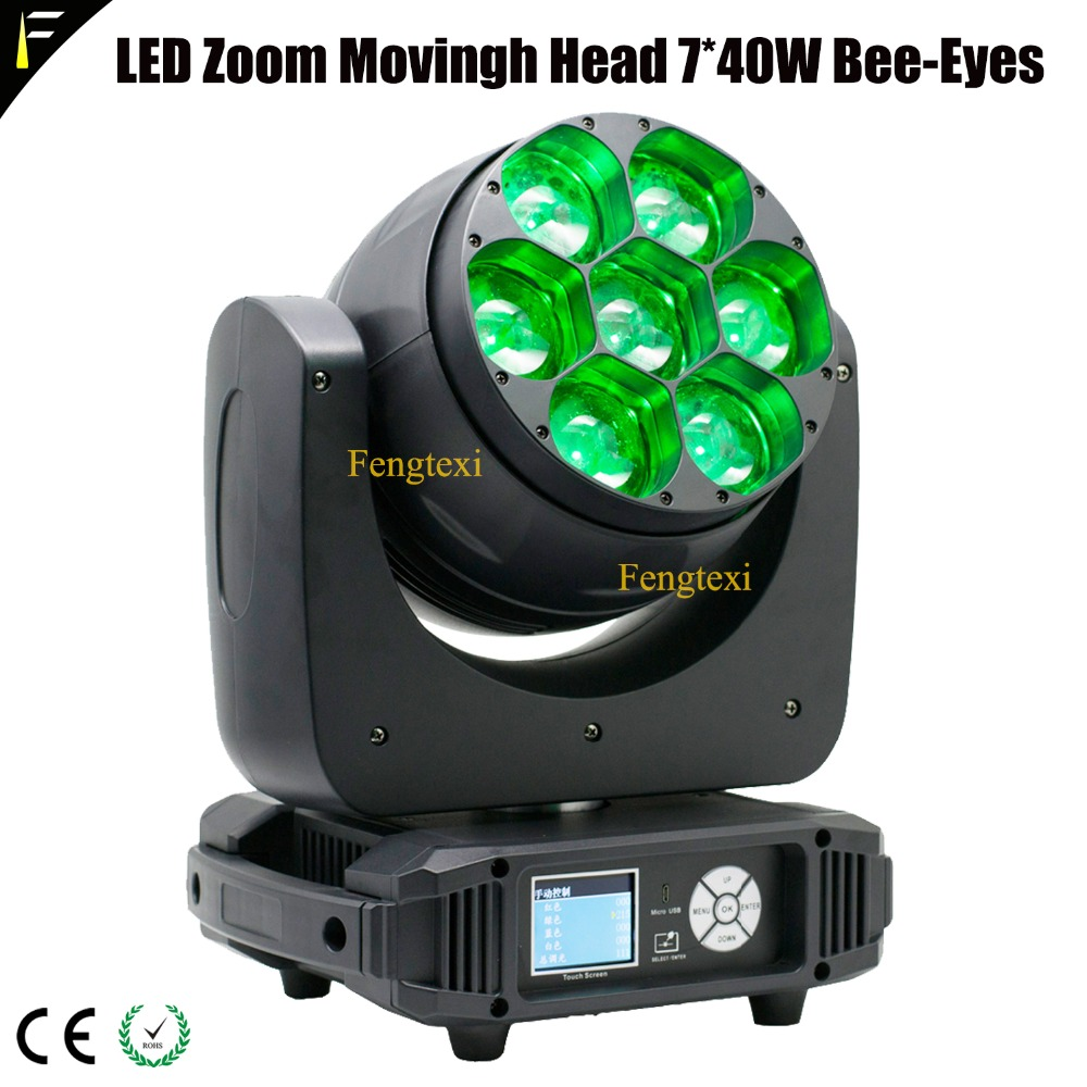 LED Zoom Movingh Head 7x40W Bee Eyes1