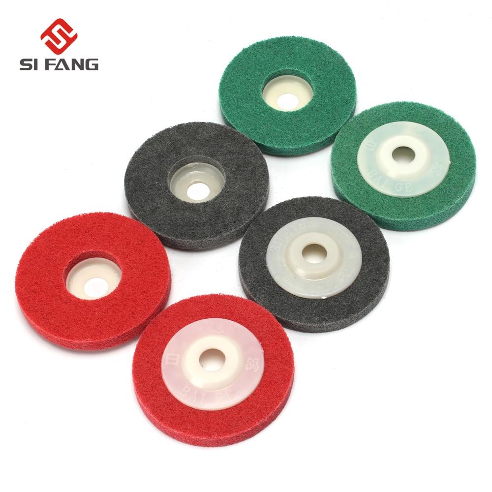 6Pcs 4 Inch Fiber Wheels Nylon Wheel Bowl Polishing Abrasive Discs Grinding Mix Grinding Tool