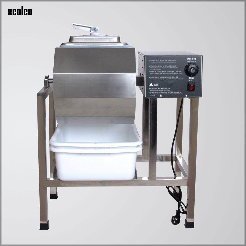 XEOLEO 45L Meat Salting machine Electric Marinator Machine Pickles car Roll kneading machine For Fast Food Restaurant 200W 220V stainless steel 35l meat salting marinated machine chinese salter machine hamburger shop fast pickling machine with timer 220v