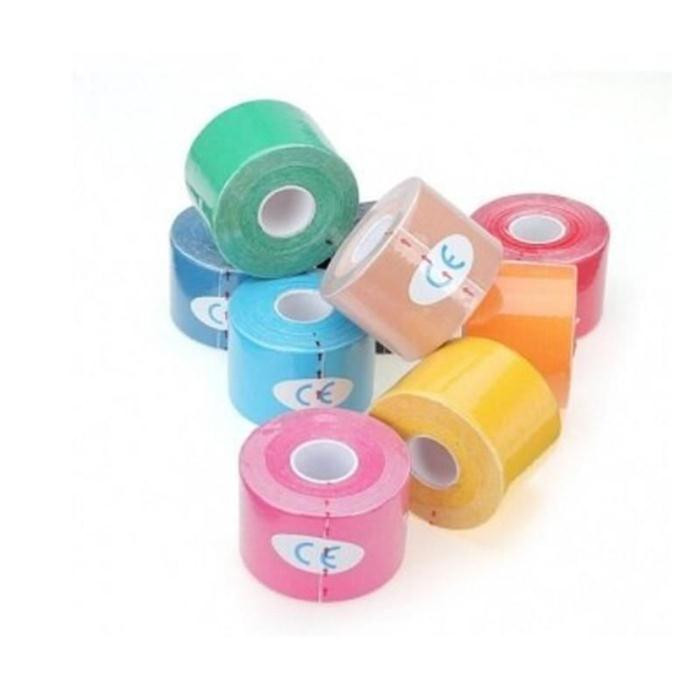 1 Roll 5mx5cm Colorful Self Adhesive Ankle Finger Muscles Care Medical Elastic Bandage Gauze Dressing Tape Sports Wrist Support
