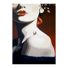 fashion woman portrait Diamond Painting Full Round New DIY Sticking Drill Cross Embroidery 5D simple Home Decoration