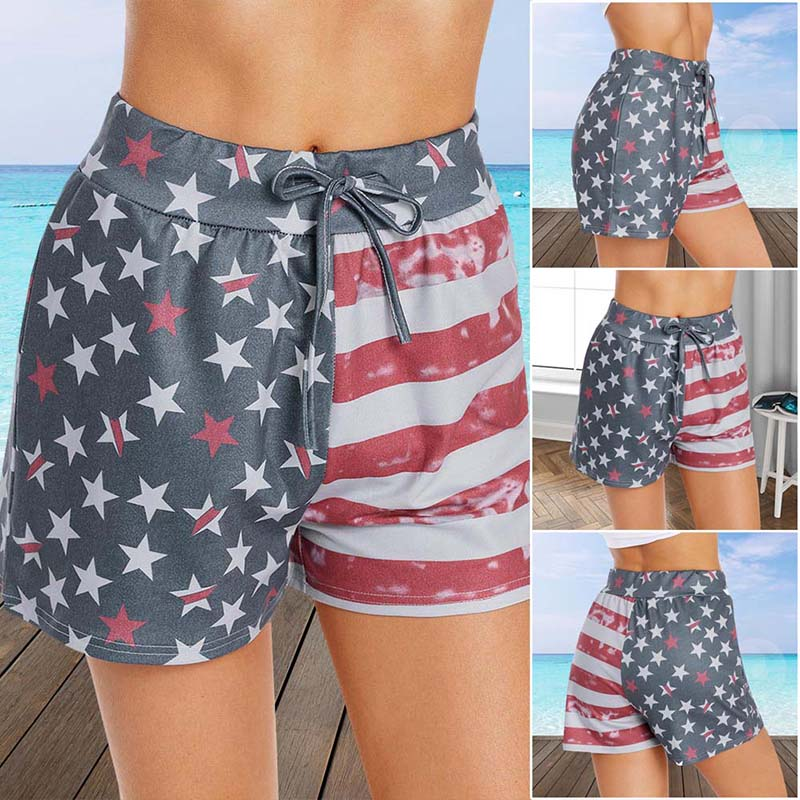 2019 Women Summer low Waist Sexy Star Stripe Trendy Slim Print Mini Jeans Denim Shorts Plus Size