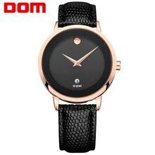 DOM Hombres mens relojes de primeras marcas de lujo del cuarzo del cuero impermeable estilo reloj reloj mujer marcas famosas