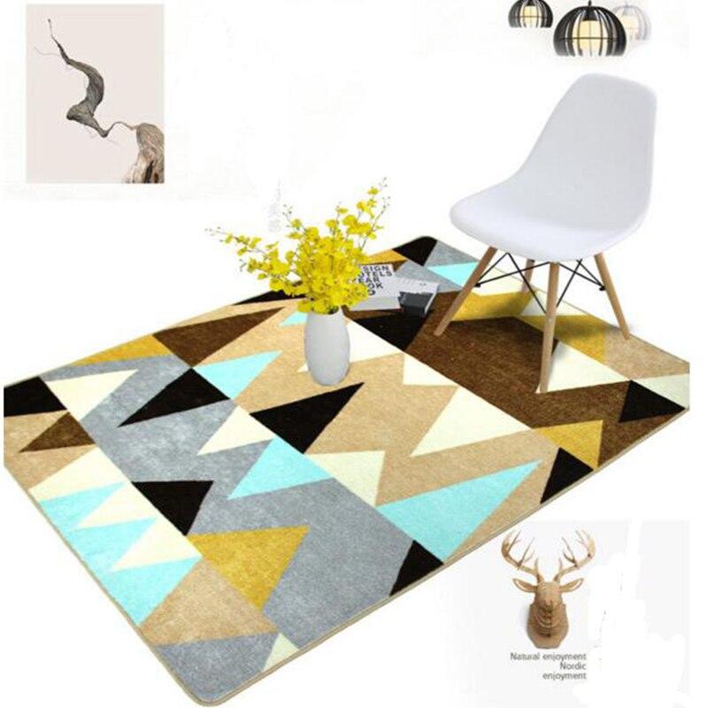 2017 Nordic Teppich Wohnzimmer Moderne Einfachheit Baumwolle Und Polyester Maschine Waschbar Rechteck Anti Slip