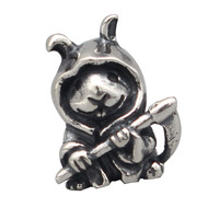 925 Sterling Silver Bunny Reaper Charms For Gift DIY Bracelet Making Fit Troll OHM Charm Bead European Brand Bracelet Jewelry