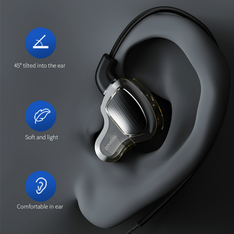 Image 5 - Headphones Earphone Hifi Stereo Deep Bass Earbuds with microphone Headset with Hybrid Driver for Running Jogging Walking-in Phone Earphones & Headphones from Consumer Electronics