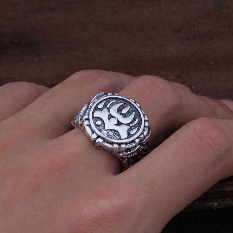Dropshiping Odin Symbol Norse Viking Runes Rings For Men Runic 1