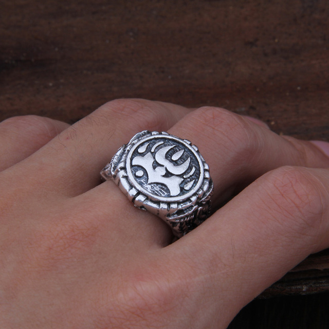 Dropshiping Odin Symbol Norse Viking Runes Rings For Men Runic 1