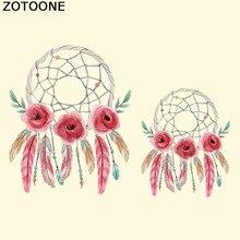ZOTOONE Dreamcatcher Цветочные Заплаты Утюг На Передачи Для Ткани Одежды для Детей Аппликация Знак