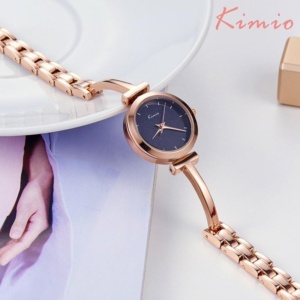 KIMIO Shine Dial Rose Gold Women Watches Armbåndsur Ladies Watches - Dameure - Foto 2