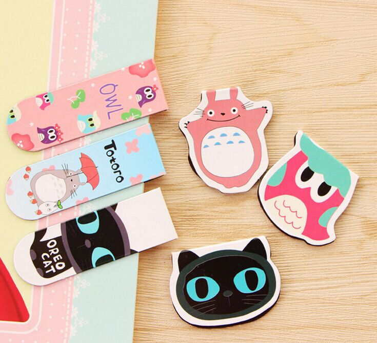Cute Black Cat Owl Totoro Fruit Magnet Bookmark Animal Paper Clip School Office Supply Escolar Papelaria Gift Stationery