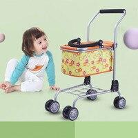 Children's Toy Baby Stroller Play Pretend Toy Children's Supermarket Shopping Cart Basket Shopping Cart Toy Doll Stroller Toys