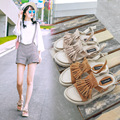 In the summer of 2016 the new Europe station tassel sandals female thick flat bottom explosion tide ladies shoes one generation