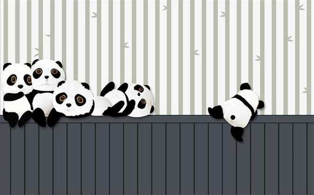 Us 1454 51 Offcustom 3d Photo Wallpaper Kids Room Mural Cartoon Giant Panda 3d Painting Tv Sofa Background Non Woven Wallpaper For Wall 3d In