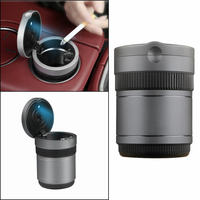 Car Styling Camera Style Aluminum Cigarette Ashtray Ash with Blue LED Light Smokeless Stand Cylinder Cup Holder for Maserati