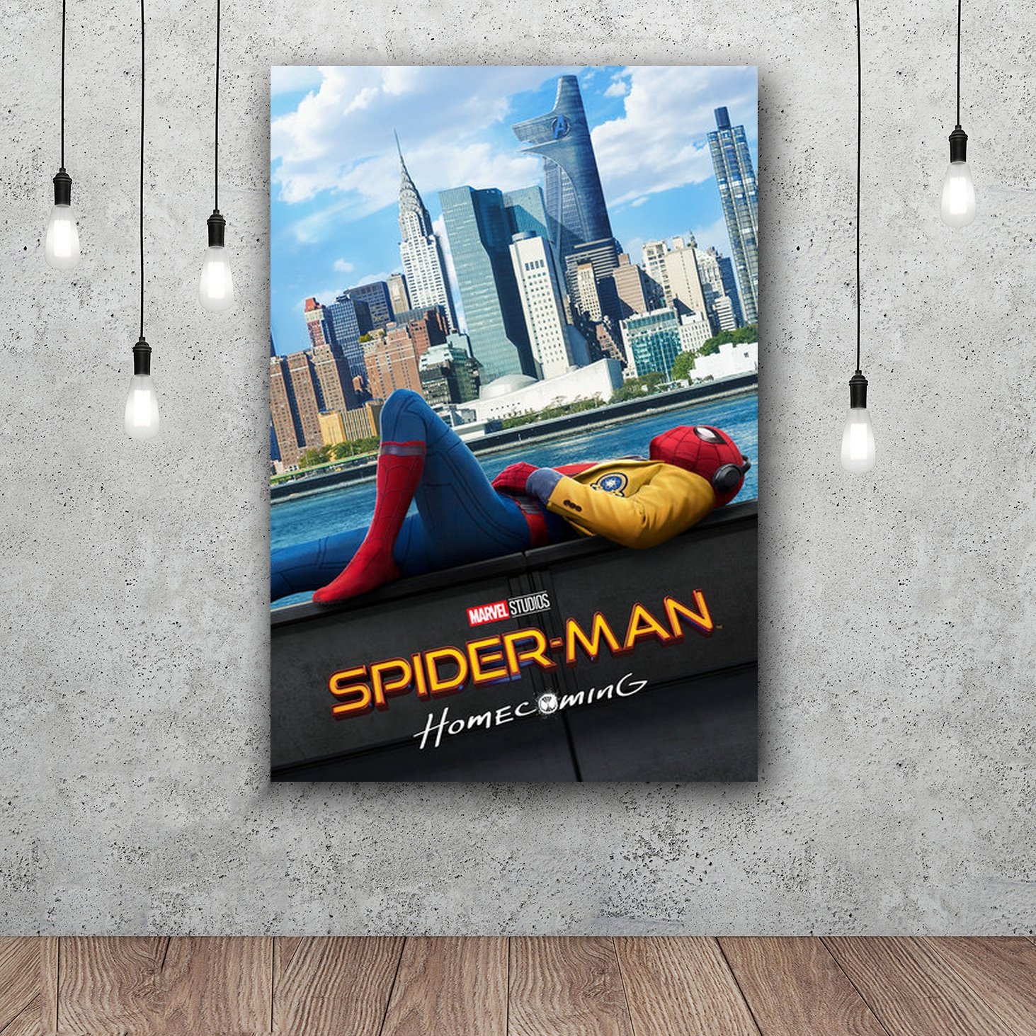 SPIDERMAN HOMECOMING Tom Holland Superhero Movie Canvas Or Silk Poster 12x18 24x36 inch