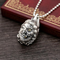 Buddha magic side of the face 2016 arrival 100% Real 925 Sterling Silver pendant Men and Women fine jewelry Hot Sale Punk GP91