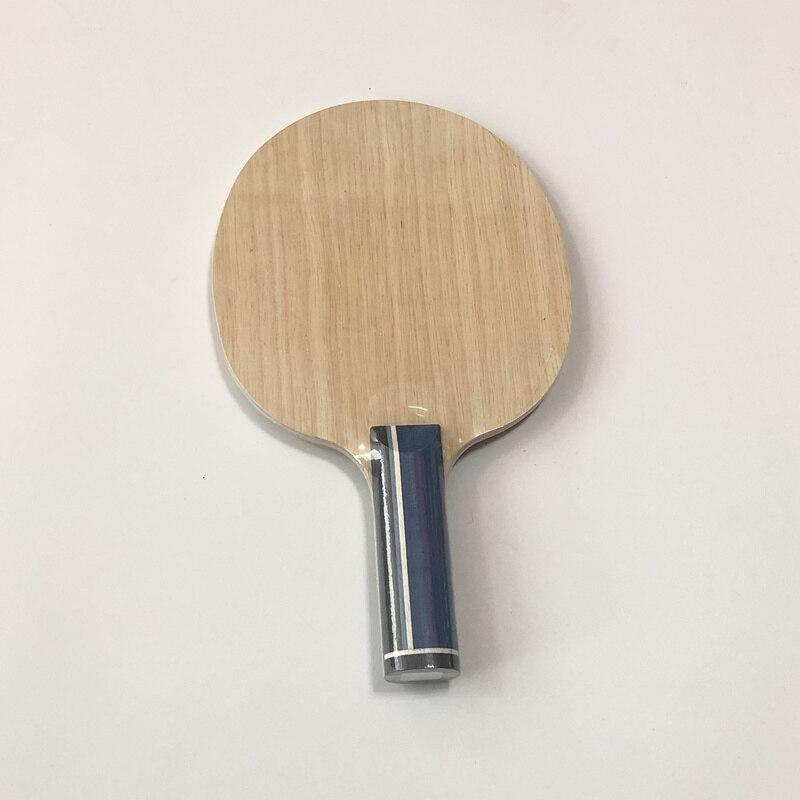 Lemuria bricolage palette de tennis de table personnalisée 5 plis bois plus 2 plis arylate carbone ping-pong batte longue poignée raquette de tennis de table