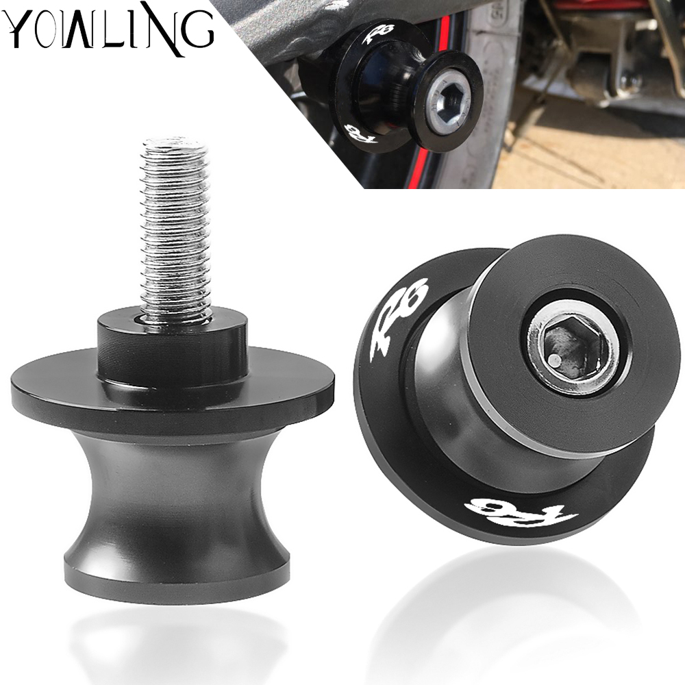M6 Motorcycle accessories Swingarm Spools slider stand screws For yamaha <font><b>R6</b></font> YZFR6 YZF-<font><b>R6</b></font> 1999-2018 2012 2013 2014 2015 2016 <font><b>2017</b></font> image