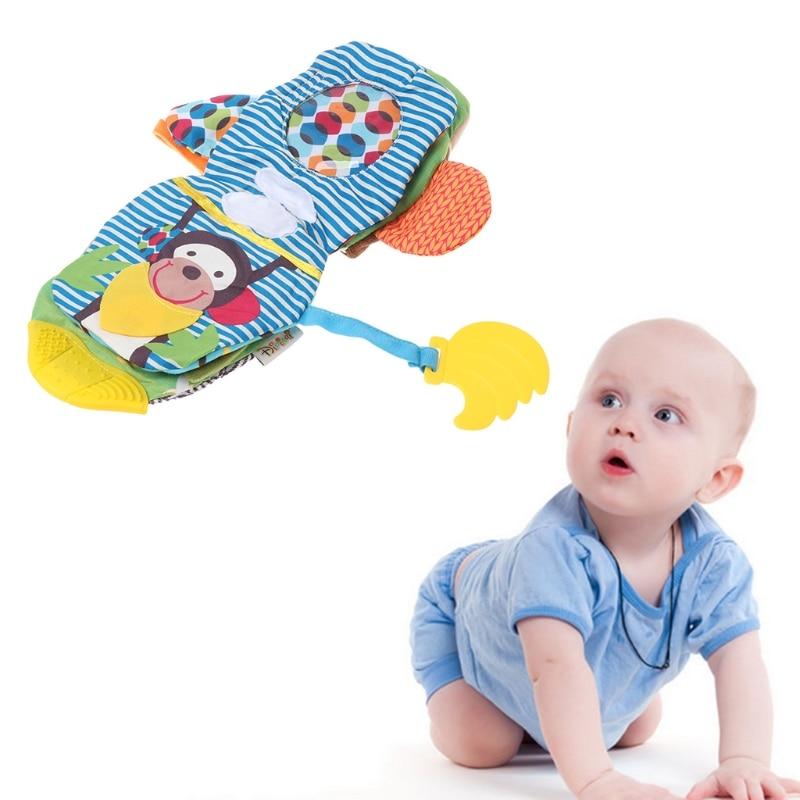 Baby Quiet Book Teether Monkey Cartoon Educational Fabric Kids Development Toys #0503#
