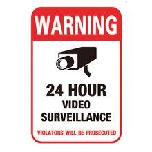 100pcs/lot Waterproof Home CCTV Video Surveillance Sticker Self-adhesive Security Camera Alarm Sticker Warning Decal Signs