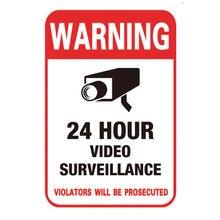 Câmera de vigilância por vídeo, adesivo de aviso à prova d'água 10 pçs/lote de pvc e cctv