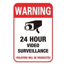 Nuevo 10 unids/lote protector solar impermeable de PVC para el hogar vídeo CCTV cámara de seguridad de vigilancia adhesivo de alarma calcomanías de señales de advertencia