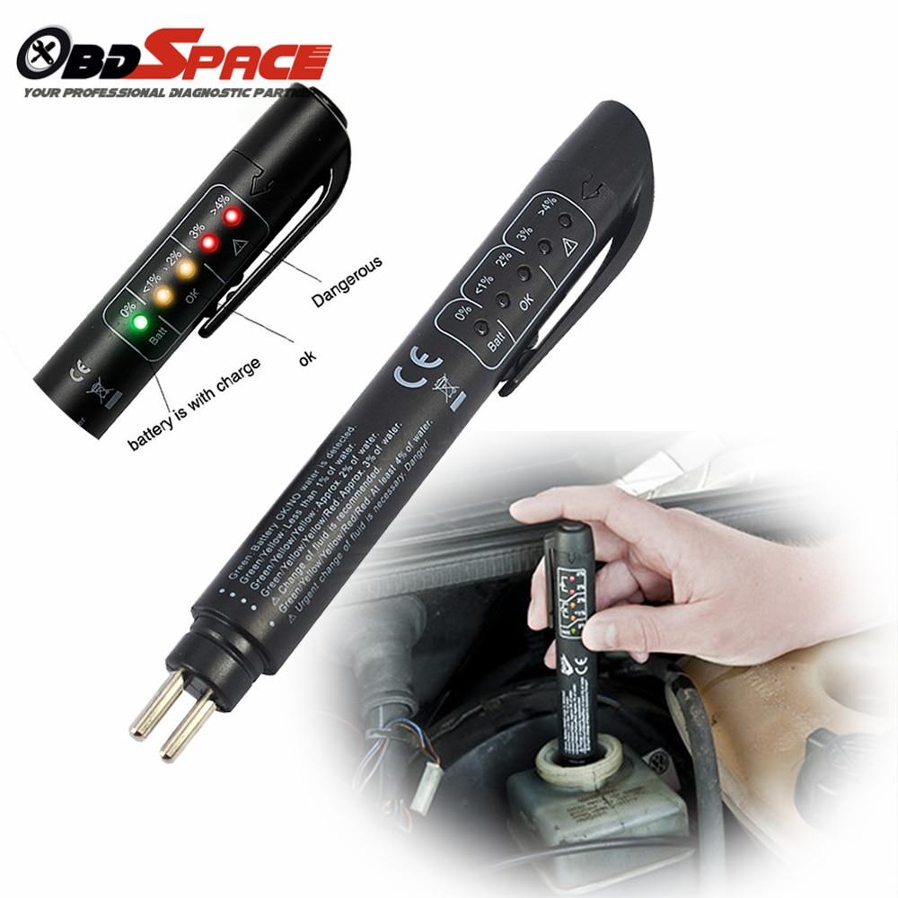 2017 New Brake Fluid Tester Pen 5 LED Mini Indicator For Cars