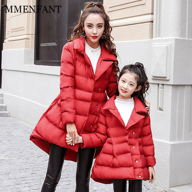 Family look nmd matching mother daughter clothes 2017 winter Slim jacket Maternity clothes children outwear girls warm coats свитшот бабочка family look