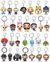 Nuevos juguetes Pop llavero héroes princesa Rick y Morty Sailor Moon Juego de Tronos Llavero bolsa colgante joyería de caja