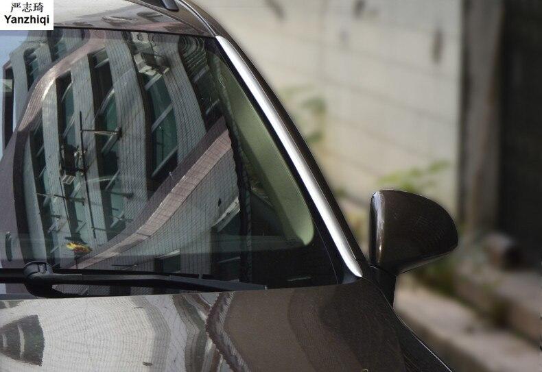 Acier inoxydable haute de frein lampe lumière de frein post bande autocollants car styling pour VW Volkswagen 2011-2017 Touareg Accessoires
