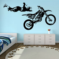 os1681 MOTOCROSS STUNT MOTORBIKE MX X GAMES Vinyl wall art sticker decal free shipping