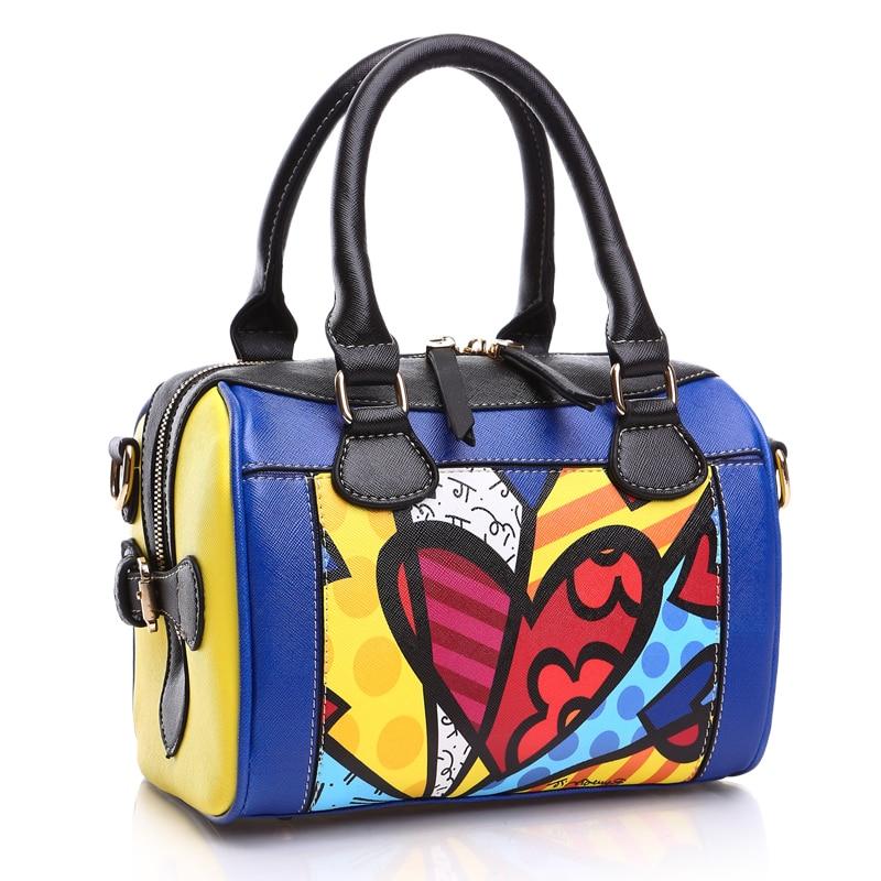 FEELINGBAGS Store ROMERO BRITTO Free Shipping New Korean Fashion Handbags Diagonal Small Bags Pillow Bags Shell Bag Ladies Shoulder Messenger Bags