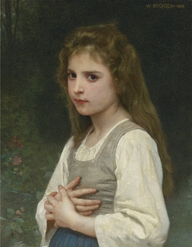 Hand painted Oil painting reproduction artwork Jeanne by William Bouguereau