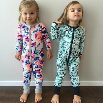 2020 unisex baby girls boys long sleeve cotton rompers printing pattern kids autumn one piece zipper design CR155 1