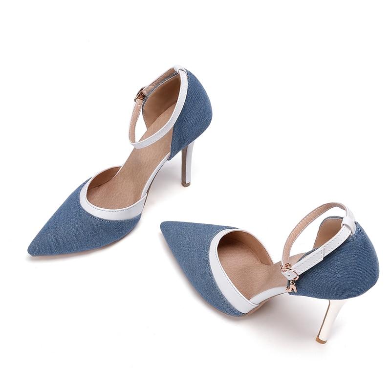 Hauts Sandale Qmgusvzp Blue Mouillé Mode Bride 47 La Pointu Bout n0vmwON8