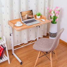 LK369 Simple Can Be Lift Computer Table with PU Locked Pulley Fence Around Laptop Stand Office Furniture 360 Rotary Desktop