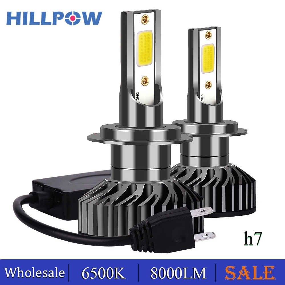 Hillpow 2pcs H4 LED H7 Car Lights Bulbs H3 H8 H9 H11 881 9005 LED H1 9006 Car Headlight Lights For Auto Universal 12V Wholesale