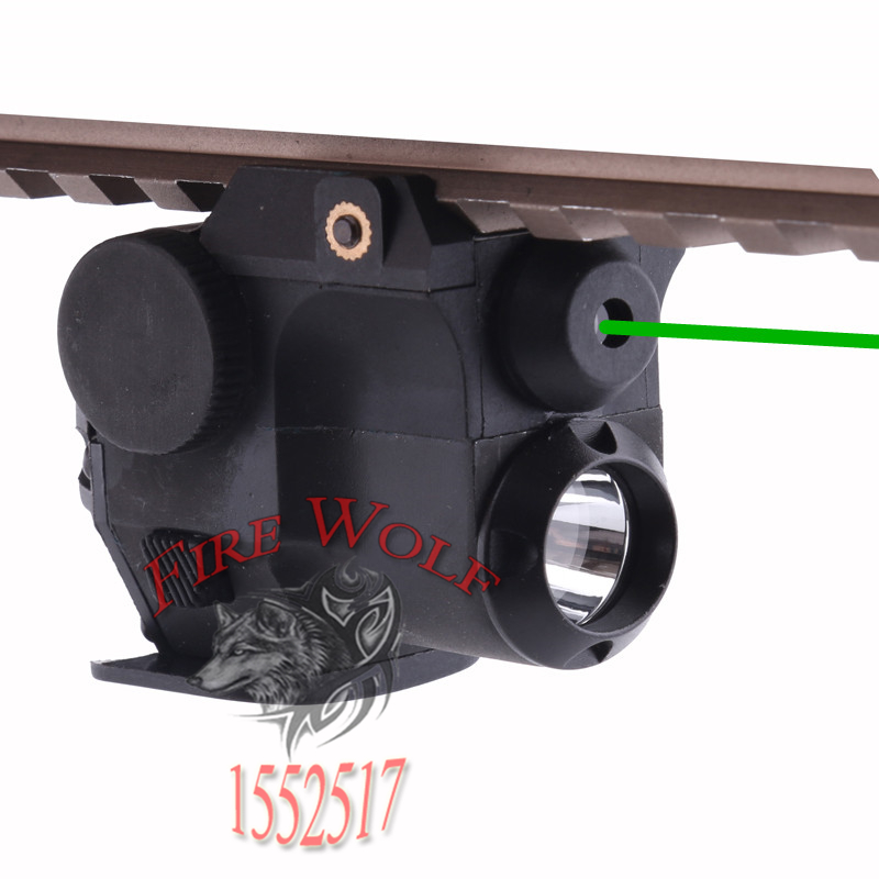 532nm Wavelength Tactical Hunting Green Dot Laser Sight Scope W/ LED Flashlight Combo Fit For 21mm Weaver Picatinny Rail