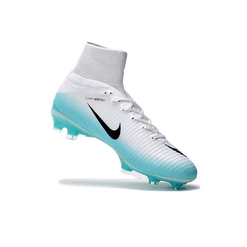 b3cf567aa7f7 ... Nike MERCURIAL SUPERFLY V AG Soccer Shoes Superfly White High Ankle  Football Boots Outdoor for Men ...