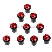 New Arrival 10pcs 5mm CNC Aluminum Windscreen Windshield Bolts Screw Kit Free Shipping