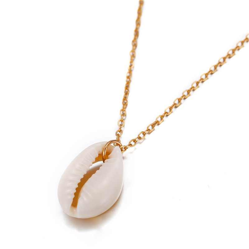 Bohemian Cowrie Conch Shell Pendant Necklace for Women Fashion Ocean Sea Beach Necklaces Boho Shell Jewelry