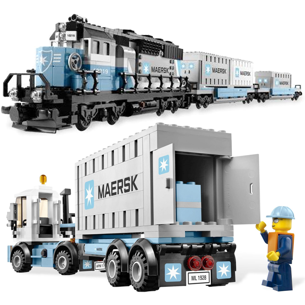 1234Pcs Ultimate Maersk Train Set Model Building Blocks Kit Toys Educational Children Christmas Gifts Compatible Legoness 10219 lepin 21006 legoing 1234pcs genuine technic ultimate series the maersk train set building blocks bricks educational toys 10219
