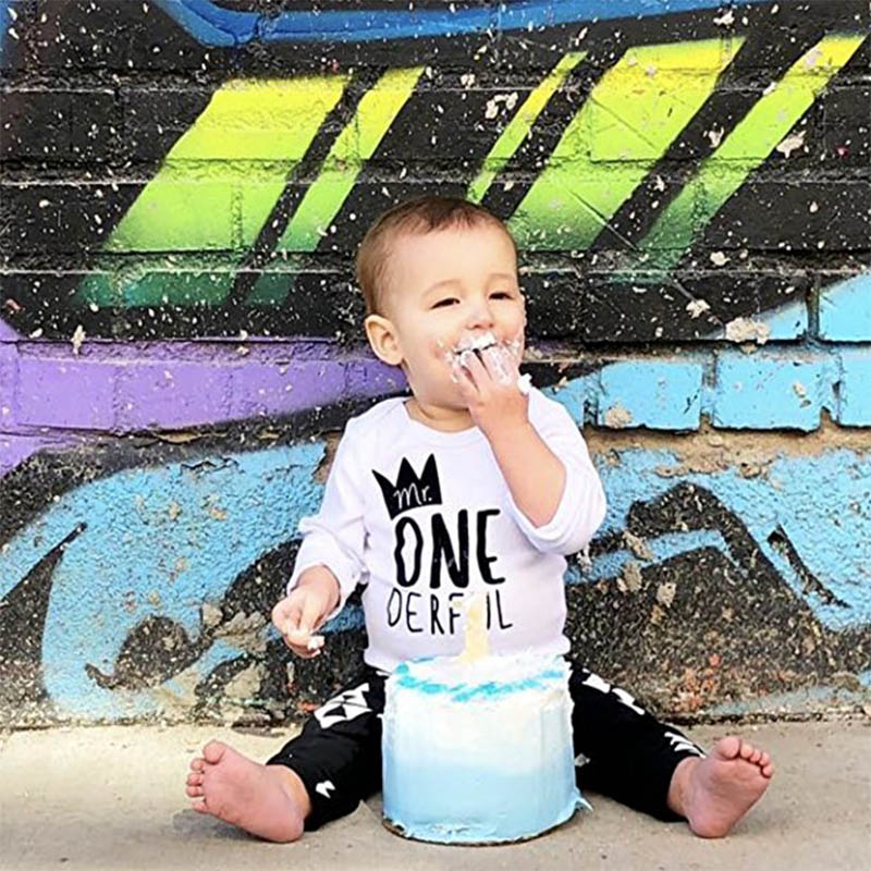 YSCULBUTOL Mr One Derful Baby Boys 1st Birthday Bodysuit First Outfit For