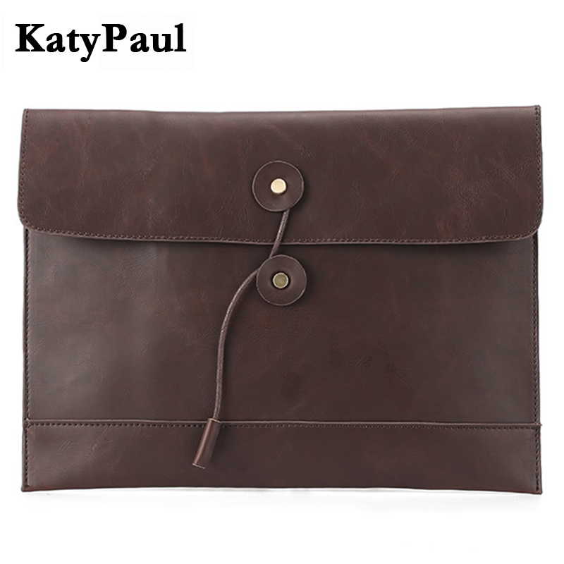 KatyPaul Brand 2017 Fashion Vintage Men Wallet Leather Clutch Bag Male Envelope Purse Handy Bag Large Capacity Wallets Billetera