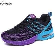 Comemore кроссовки для Для женщин спортивные мужские туфли обувь Обувь с дышащей сеткой атлетика бег спортивный женская обувь женщина
