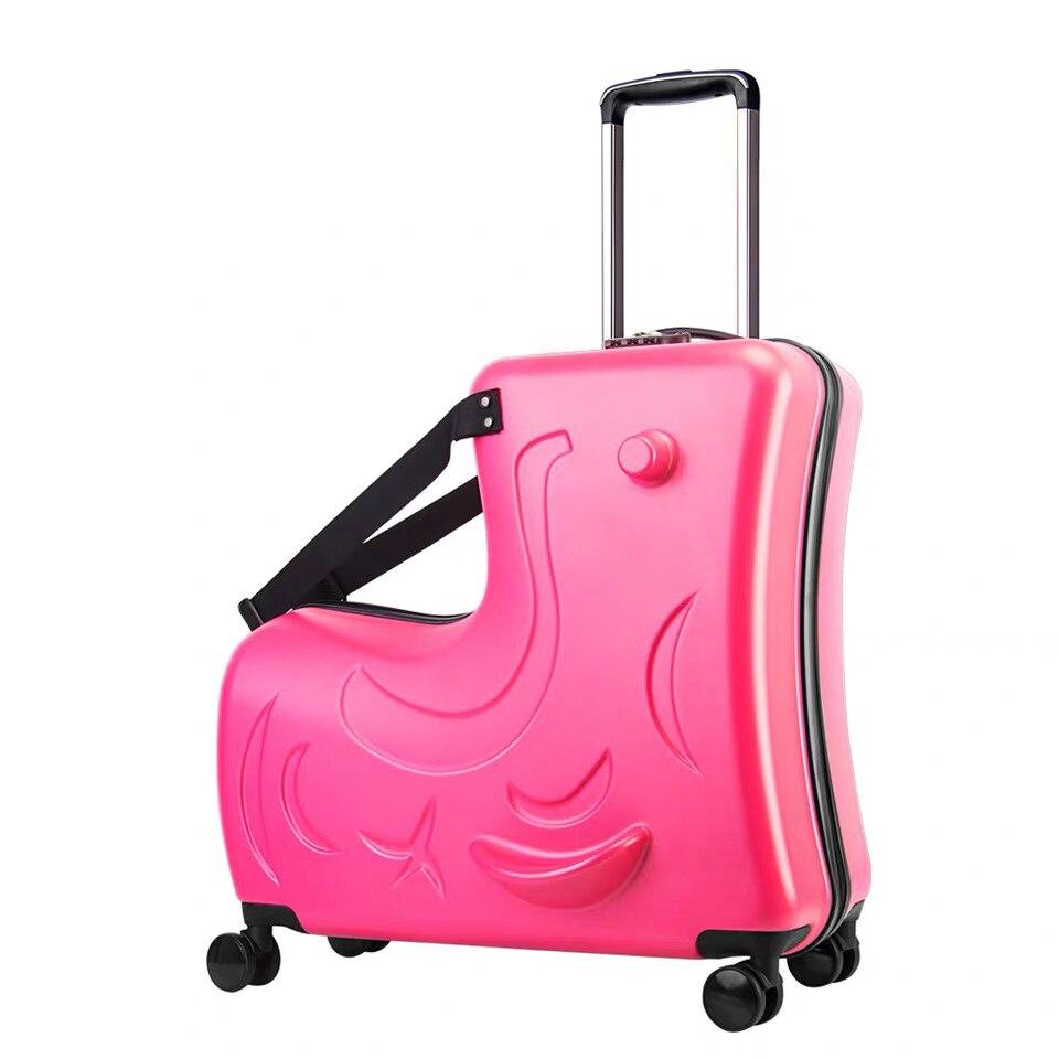 Детский Багаж на колесиках, чемодан на колесиках, детская дорожная сумка с колесиками - Цвет: red