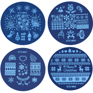 Image 5 - 1pcs Christmas Nail Stamping Plates Snowflake Deer Winter Image Plate DIY Nail Designs Stencils For Manicure Tools JISTZM01 10