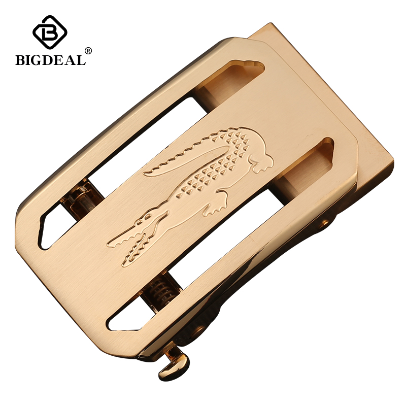BIGDEAL Fashion Luxury Solid Brass Automatic Buckles For Men's Leather Waist Belt Accessories 3.5CM
